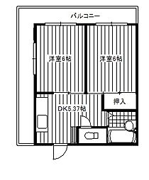 町屋パークサイド居串[2階]の間取り