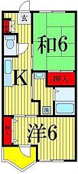 レジデンス青井[304号室]の間取り