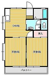 メゾンスリーゼN-2[2階]の間取り