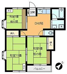 栄ハウス[A-202号室]の間取り