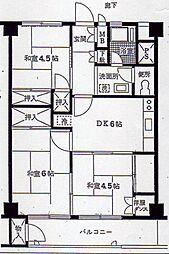 六浦荘団地[8階]の間取り