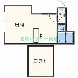 北海道札幌市東区北三十四条東2丁目の賃貸アパートの間取り