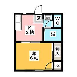 シティハイツ杉澤[1階]の間取り