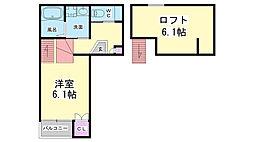 兵庫県神戸市長田区本庄町8丁目の賃貸アパートの間取り