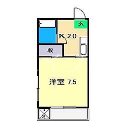 コーポエイメイ[3階]の間取り