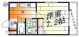 レーベン千里丘[2階]の間取り