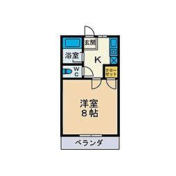 ドエル猪俣[1階]の間取り