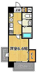サムティ大阪CITYWEST[11階]の間取り