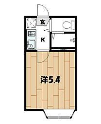 ハイツ二俣川[203号室]の間取り