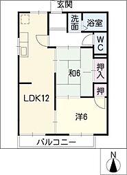 メゾン米野[2階]の間取り