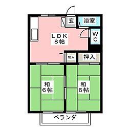 もちの木ハイツPART5[2階]の間取り