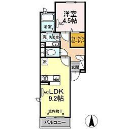 D-room目黒本町 3階1LDKの間取り