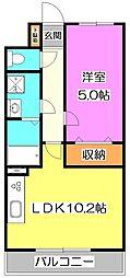東京都練馬区谷原2丁目の賃貸マンションの間取り