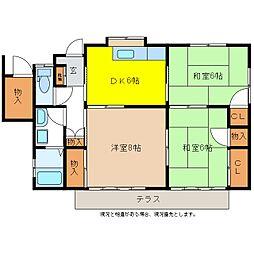 長野県長野市大字大豆島の賃貸アパートの間取り