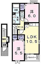 SAKURA[0203号室]の間取り