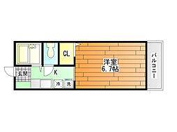 メゾンクレールS A棟[1階]の間取り