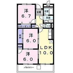 東京都八王子市南大沢1丁目の賃貸マンションの間取り