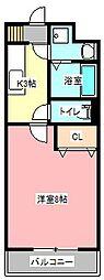 オーシャンブルー[4階]の間取り