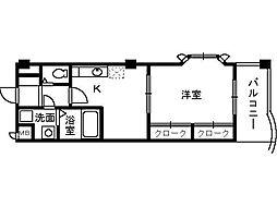 ロイヤルイシヅ[2階]の間取り