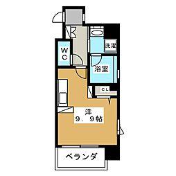 ベラジオ京都神泉苑[4階]の間取り