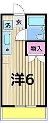 東京都足立区梅田2丁目の賃貸マンションの間取り