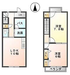 ベルテ斉東[1階]の間取り