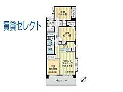 レクセルマンション松戸[407号室]の間取り