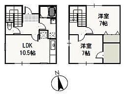 [テラスハウス] 岡山県岡山市東区松新町 の賃貸【/】の間取り