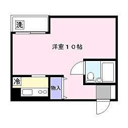 埼玉県草加市栄町2丁目の賃貸マンションの間取り