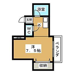 シングルハウスアトラクタービル[5階]の間取り
