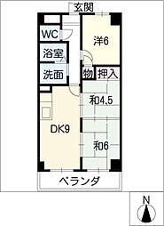 レジディア日比野[11階]の間取り