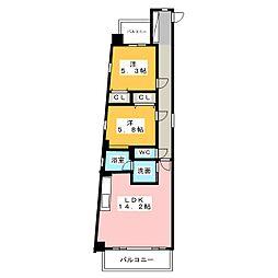 OASIA[2階]の間取り