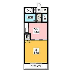 マンション青山[2階]の間取り