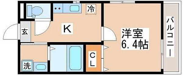 ベルメール東垂水[3階]の間取り