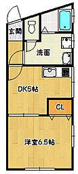 兵庫県神戸市長田区大丸町3丁目の賃貸マンションの間取り