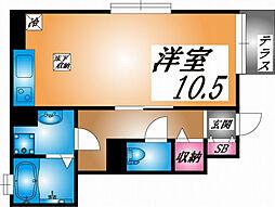 兵庫県神戸市灘区岩屋北町2丁目の賃貸アパートの間取り