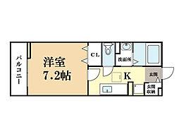 メープルコート[1階]の間取り