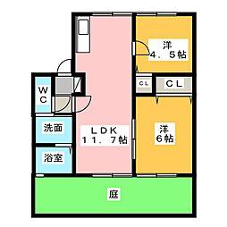 ファミールCUBE[1階]の間取り