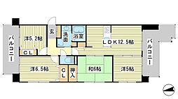 リベール姫路駅前II[601号室]の間取り
