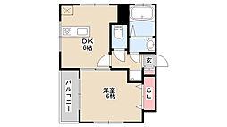 兵庫県神戸市中央区元町通4丁目の賃貸アパートの間取り