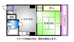 泰久マンション[203号室]の間取り