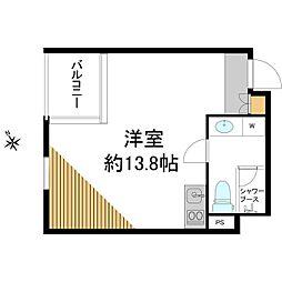LANAI GRACE KITA AOYAMA 3階ワンルームの間取り