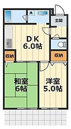 メゾンM&E[1階]の間取り