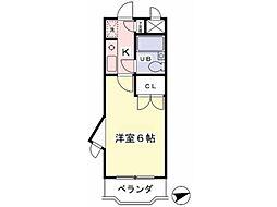 クリオ橋本ファースト[5階]の間取り