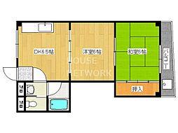 NISHIKIマンションII[305号室号室]の間取り