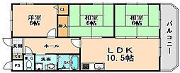 兵庫県伊丹市鴻池3丁目の賃貸マンションの間取り