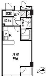 K-flat[203号室]の間取り