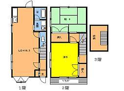 [テラスハウス] 千葉県千葉市若葉区都賀4丁目 の賃貸【/】の間取り