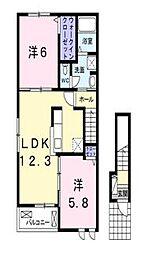 岡山県玉野市和田2丁目の賃貸アパートの間取り