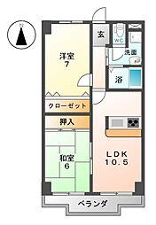 サンケンユーム[2階]の間取り